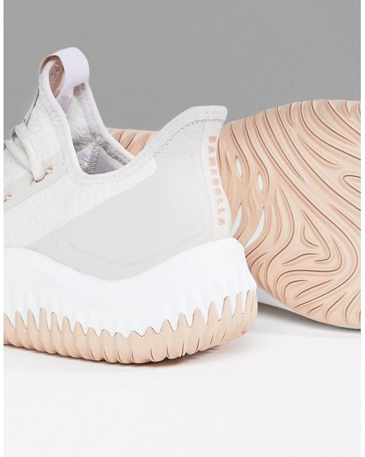 Adidas Basket X Lliard 'dame Dolla' Formateurs En Db1074 Blanc - Blanc gCMBa
