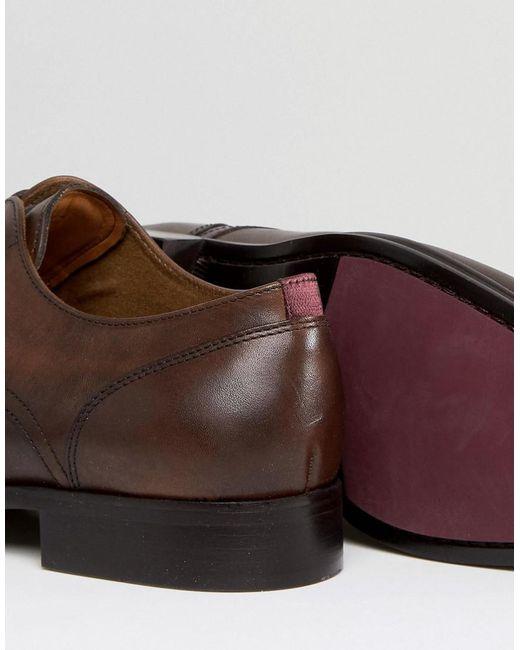 Aldo Chaussures En Cuir Derby Lauriano En Tan Tan - p4njH6