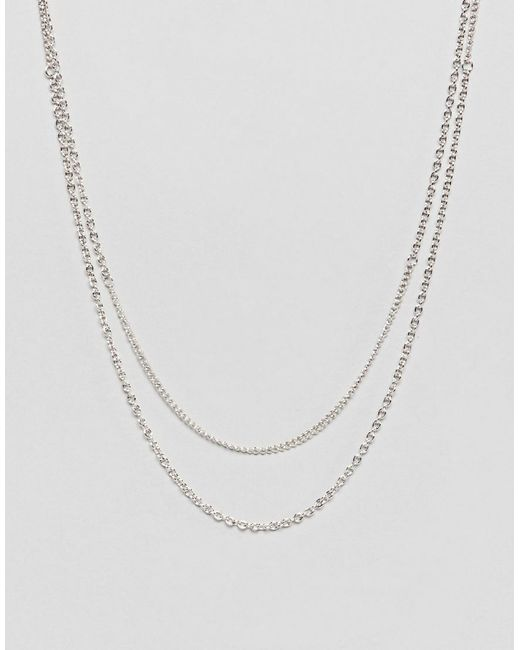 Icon Brand - Metallic Antique Silver Chain Necklace for Men - Lyst
