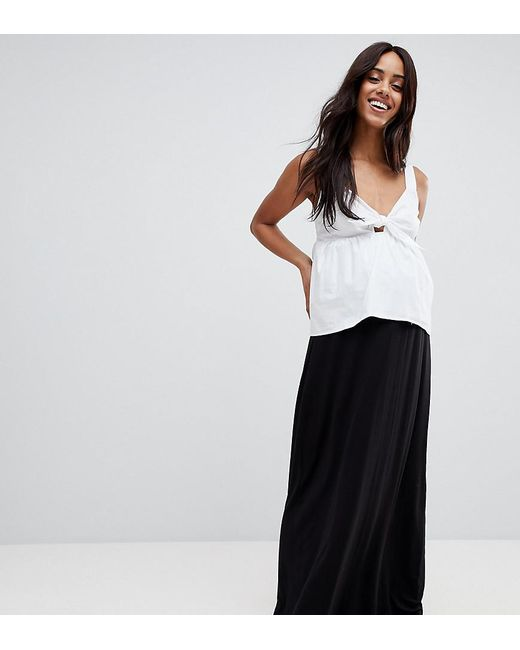 0acb4b5f31e ASOS - Black Asos Design Maternity Maxi Skirt With Paperbag Waist - Lyst ...