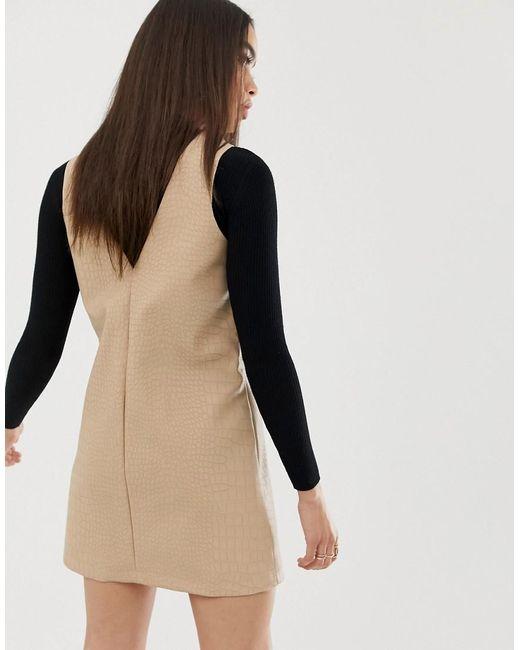 8cf4283e34c3f ... UNIQUE21 - Multicolor Structured Mini Dress In Faux Croc - Lyst