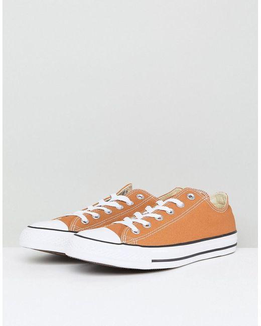 Chuck Taylor All Star Ox Plimsolls In Tan 157651C237 - Tan Converse Fashion Style Cheap Price 5NROT6IU