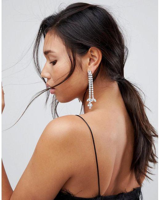 Krystal London - Multicolor Swarovski Crystal Tripel Drop Earrings - Lyst