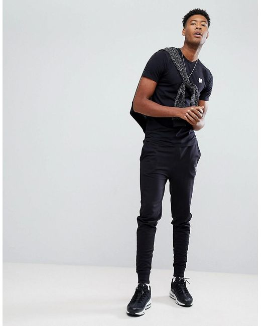 New Sale New Muscle T-Shirt In Black with Chest Logo Exclusive to ASOS - Black Good For Nothing Recommend Online Clearance Professional Collections Sale Online NiQKDO