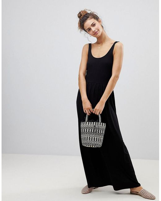 Clearance With Mastercard Amazing Price Cheap Price Mixed Fabric Strappy Maxi Dress - Black Asos With Credit Card For Sale Clearance Store Online jAioJrctk