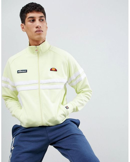 Ellesse - Rimini Track Jacket In Yellow for Men - Lyst