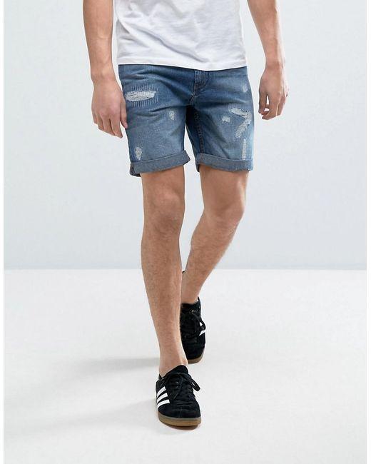 Produkt | Blue Denim Shorts With Distressing for Men | Lyst