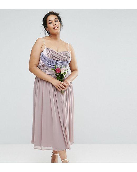 Simple Wedding Dresses Asos: Asos Wedding Ruched Color Block Midi Dress