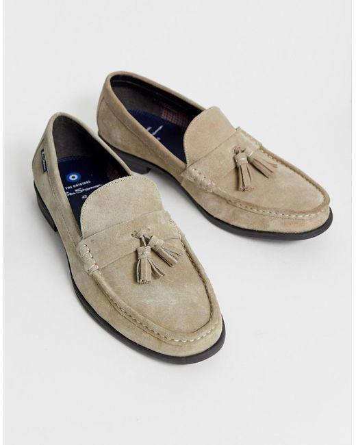 5738d152bccd ... Ben Sherman - Natural Suede Tassel Loafers In Beige for Men - Lyst
