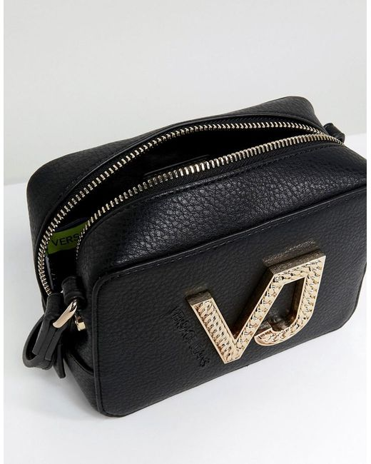 Jeans VJ Zip Around Crossbody - Black Versace RrSiwh
