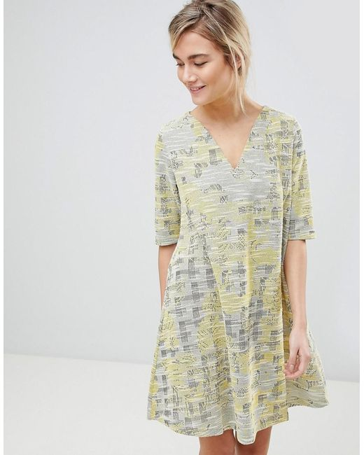 See U Soon - Yellow Dress In Tapestry Weave Fabric - Lyst