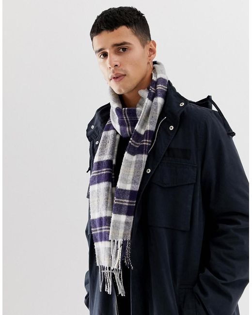 Lyst - Charpe en laine d agneau motif cossais Glen Lossie pour homme ... 6b9c21a4590