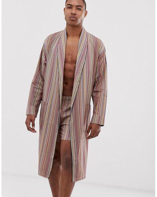 Robe de chambre légère à rayures - Multicolore Paul Smith pour homme