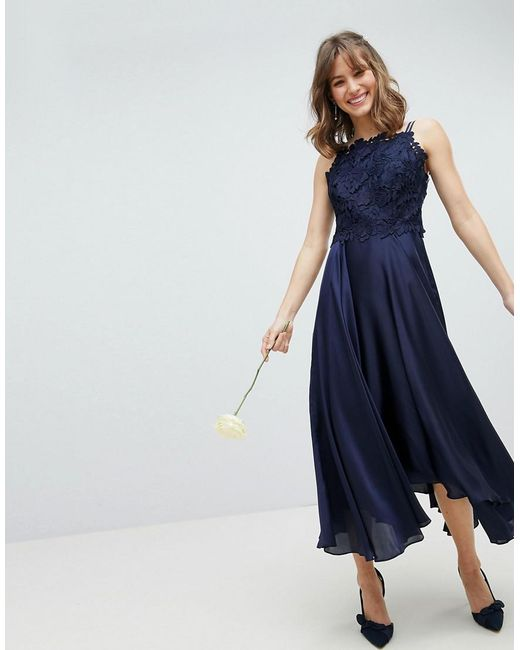 Coast - Blue Jannie Midi Dress - Lyst