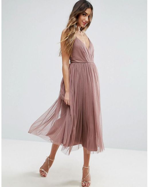 ASOS - Purple Pinny Extreme Tulle Mesh Midi Dress - Lyst