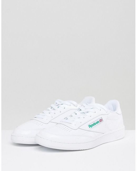 8bf12100cb16 Reebok Club C 85 Trainers In White Ar0456 in White for Men - Lyst