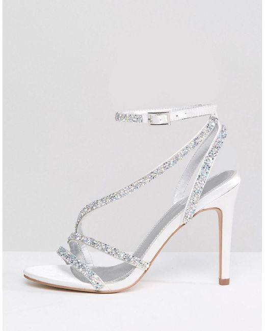 42561f980d ... ASOS - Multicolor Hypnotic Bridal Embellished Heeled Sandals - Lyst
