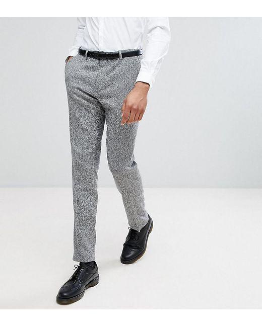 TALL Skinny Smart Trouser In Check - Navy Heart & Dagger qDkzJVs