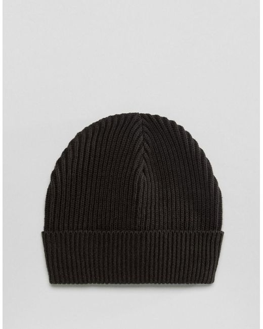 Jack & Jones - Natural Beanie In Rib Cotton Mix for Men - Lyst