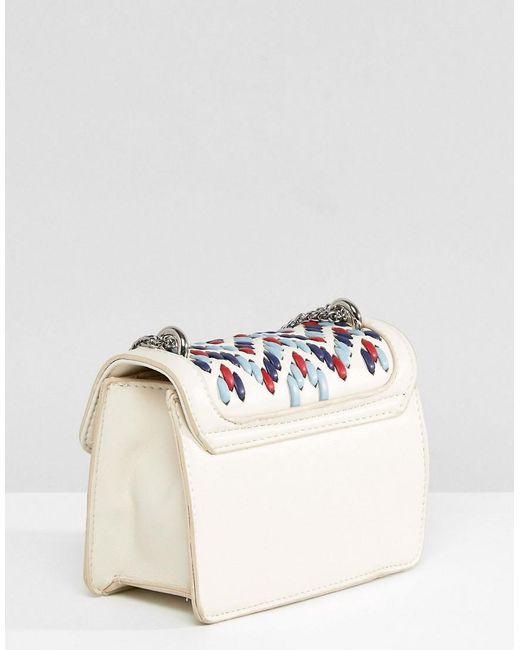 Woven Detail Mini Cross Body Bag - White multi Mario Valentino Ej80akUA