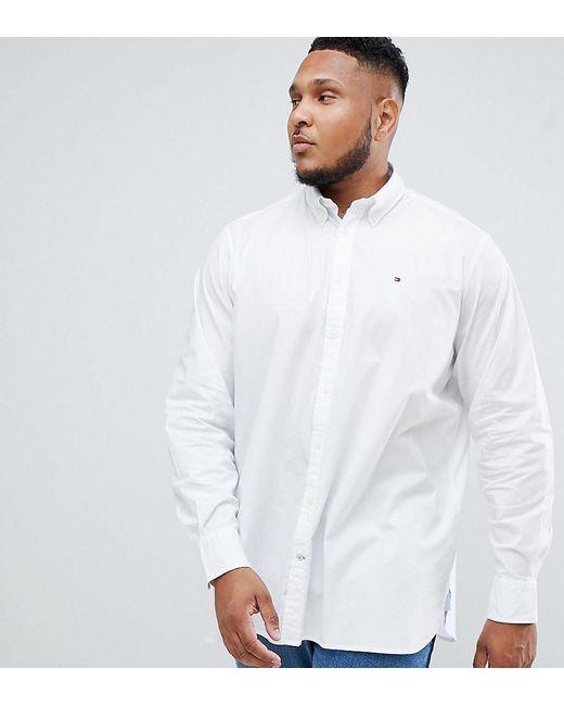 9e40736fc Tommy Hilfiger - Big & Tall Stretch Poplin Shirt Flag Logo Button Down In  White for ...