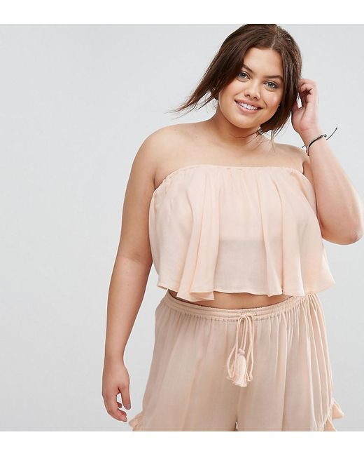 ASOS | Pink Cheesecloth Flutter Sleeve Co-ord Top | Lyst