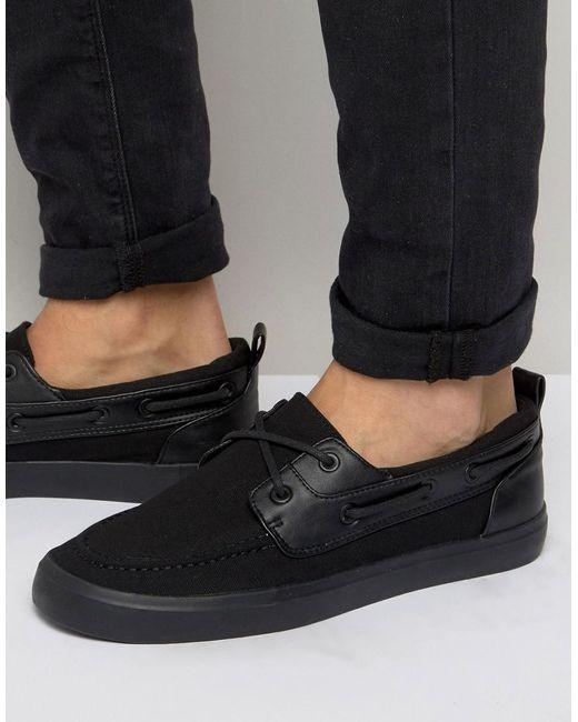 ASOS | Boat Shoes In Black for Men | Lyst