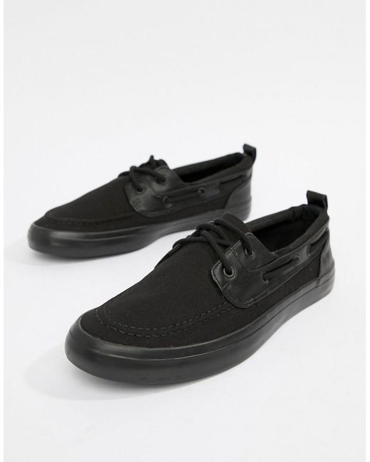 ASOS - Boat Shoes In Black for Men - Lyst