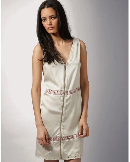 FIN Oslo | Pink For Asos Zip Detail Slip Dress | Lyst