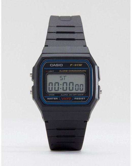 Lyst - G-Shock F-91w-1xy Classic Digital Watch in Black for Men ... 67420b3f023f