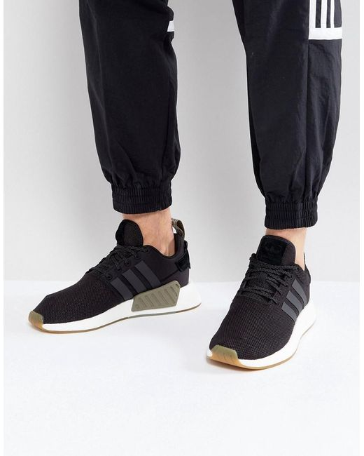 timeless design bc8e5 520db Adidas Originals - Nmd R2 Sneakers In Black By9917 for Men - Lyst ...