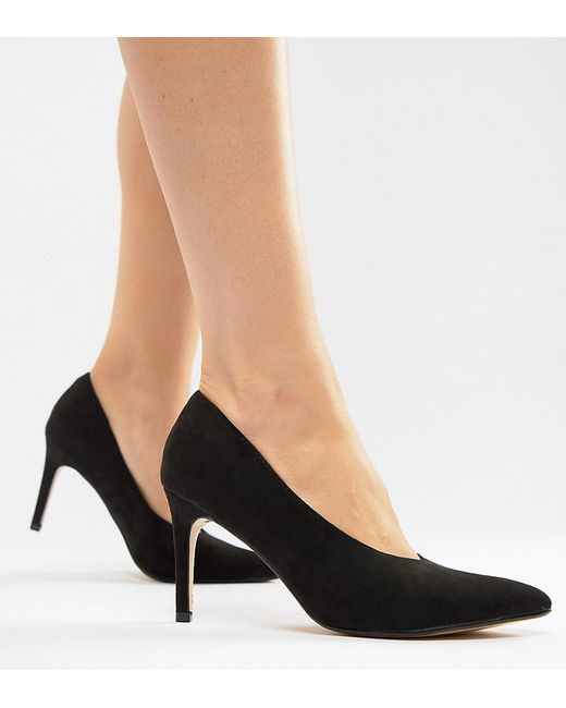 Truffle Collection - Black Mid Heels - Lyst