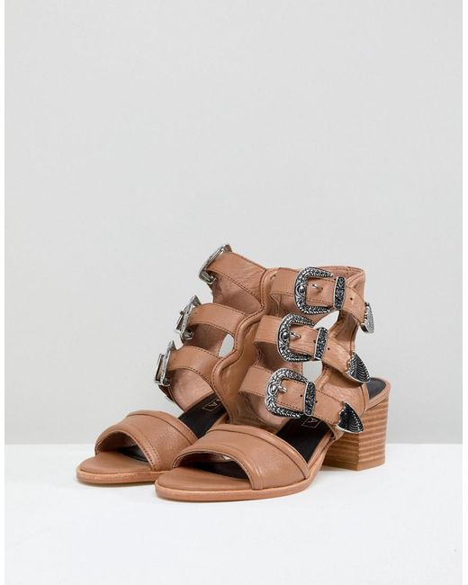 Sol Sana Clementine Triple Buckle Heeled Sandals lTdI7