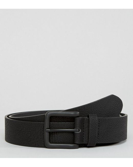 PLUS Wide Belt In Faux Leather With Black Coated Buckle - Black Asos qjE0mVqIf