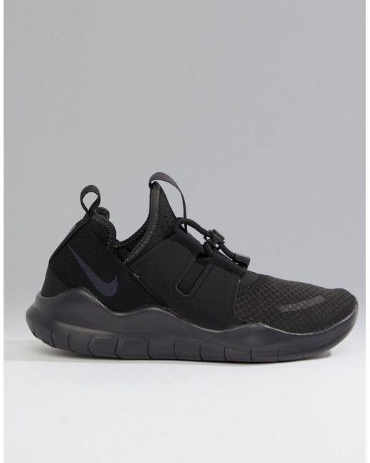 separation shoes da9b9 98950 closeout nike free run commuter 2018 sneakers in triple black aa1620 002  for men e6006 531f8