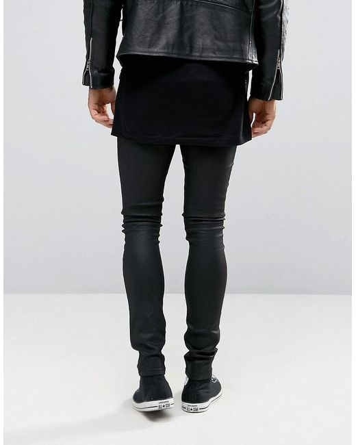 Asos skinny jeans in leather look
