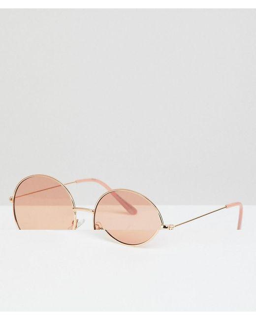 2d552695b6038 A.J. Morgan - Metallic Metal Round Sunglasses In Gold blush for Men - Lyst  ...
