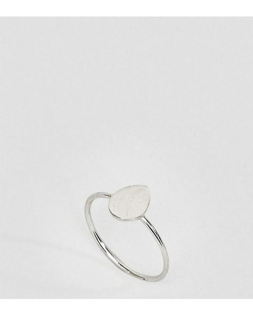 Kingsley Ryan | Metallic Kinglsey Ryan Sterling Silver Teardrop Ring | Lyst