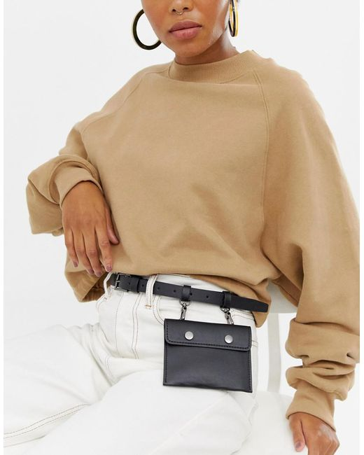 ASOS - Black Pocket Purse Belt - Lyst