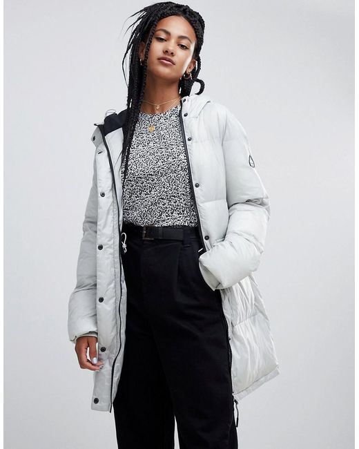 Penfield - Metallic Frances Long Padded Jacket - Lyst