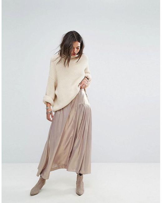 Free People   Multicolor Catch The Wind Metallic Skirt   Lyst
