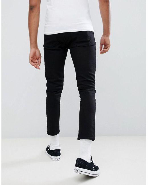 DESIGN Tall Super Crop Skinny Jeans In Black - Black Asos N1asxZ9j5