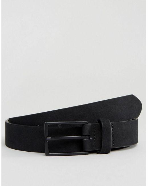 ASOS DESIGN - Smart Slim Belt In Black Faux Suede for Men - Lyst
