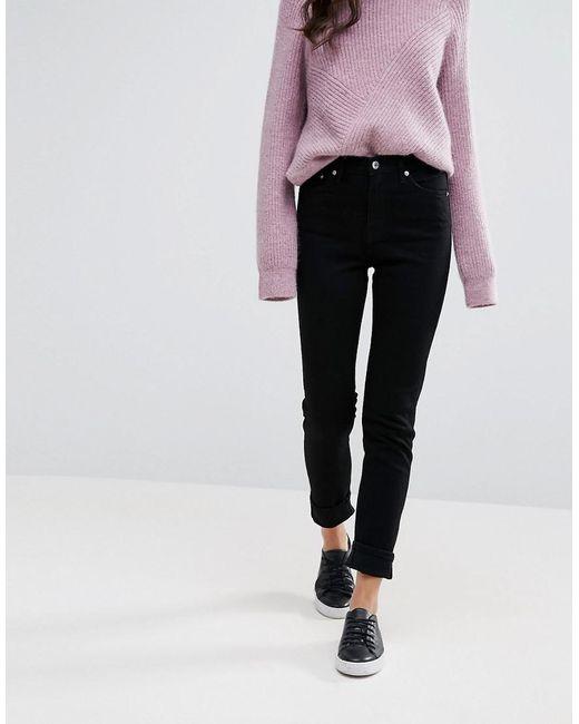Weekday - Black Way High Waist Slim Leg Jeans - Lyst