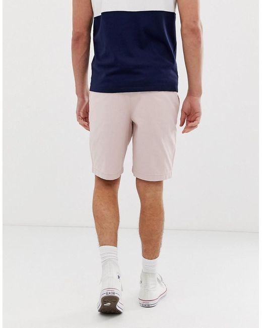 25ba9263e5 Hollister Chino Shorts In Pink in Pink for Men - Lyst