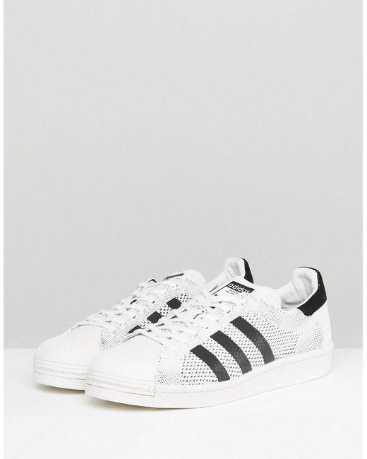Superstar Boost Primeknit Trainers In White - White adidas Originals H07DX