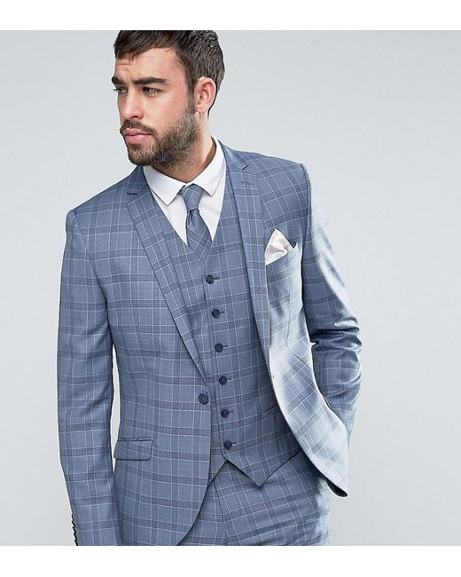 Lyst - Heart & Dagger Slim Suit Jacket In Summer Wedding Check in ...
