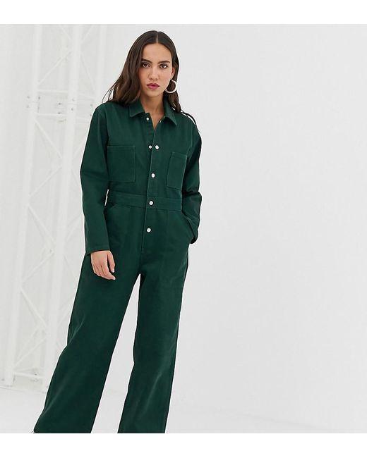 aa7c6d3d456 Reclaimed (vintage) - Green Inspired Denim Boiler Jumpsuit - Lyst ...