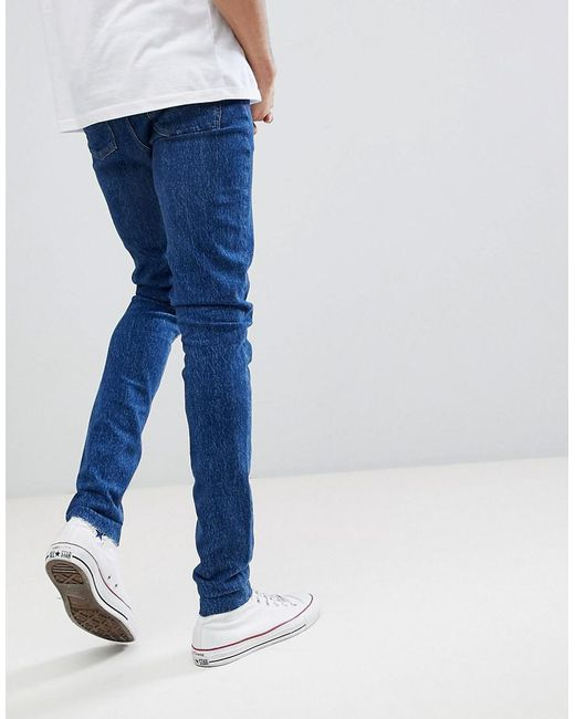 TALL Skinny Jeans In Retro Dark Wash With Raw Hem - Dark wash blue Asos Get To Buy Online Cheap Sale Latest Collections Deals Sale Online Free Shipping Sale Online Great Deals pXgTn8x