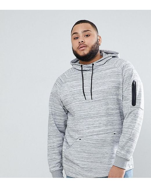Only & Sons - Gray Hoodie With Technical Arm Pocket for Men - Lyst